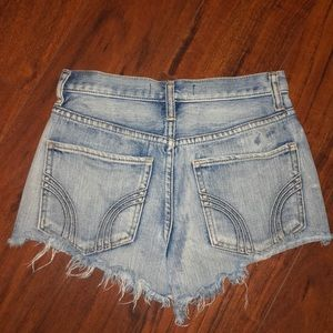 Hollister Shorts - Acid washed, high waisted shorts with lots of rips
